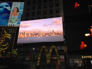 Times Square 3 D